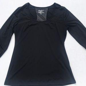 Marika Black Long Sleeve Dry Wik Performance Top